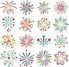 Horizontal,Celebration,No People,Holiday - Event,Illustration,Firework - Explosive Material,Firework Display,Vector