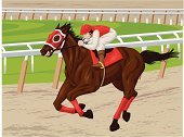 Horse Racing,Sport,Sports Race,Ilustration,Sports Venue,Action,Thoroughbred Horse,Running,Individual Sports,Actions,Animals And Pets,Sport Of Kings,Sports And Fitness