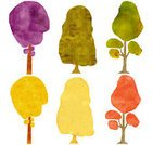 Watercolor Painting,Tree,Paper,Backgrounds,Sketch,Paint,Silhouette,Abstract,Nature,Ilustration,Drawing - Art Product,Environment,White,Isolated,Autumn,Green Color,Multi Colored,Red,Botany,Purple,Variation,Cut Out,Scrapbooking,Yellow,Painted Image,Collection,Brown,Rough,Vibrant Color,Design Element,Set,Isolated Objects,Summer,Part Of,Nature,Nature Abstract,Arts Abstract,Isolated-Background Objects,Group of Objects,Arts And Entertainment