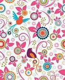Pattern,Floral Pattern,Flower,Seamless,Backgrounds,Circle,Abstract,Bird,Multi Colored,Textile,Summer,Vector,Spotted,Animal,Springtime,Modern,Leaf,Swirl,Nature,Elegance,Ornate,Plant,Shape,Decoration,Ilustration,Group of Objects,Loving,Design Element,Branch,Curve,Wallpaper Pattern,Spiral,Dove - Bird,Clip Art,Blossom,Pigeon,Season,Perching,Wrapping Paper,Curled Up,Style,Design Objects