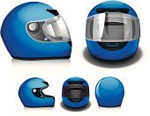 Work Helmet,Motorcycle,Sports Race,Crash Helmet,Sports Helmet,Symbol,Vector,Computer Icon,Motocross,Front View,Blue,Helmet Visor,Ilustration,Safety,Protection,Vector Icons,Sports Symbols/Metaphors,Illustrations And Vector Art,Side View,Sports And Fitness