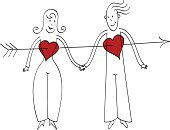 Couple,Human Hand,Heart Shape,Arrow,Two People,Love,Young Couple,Holding,Heterosexual Couple,Women,Valentine's Day - Holiday,Men,Holding Hands,Vector,Happiness,Pair,Togetherness,Cheerful,Ilustration,Touching,Design Element,Affectionate,Red,Line Art,Simplicity,Smiling,Valentine's Day,Illustrations And Vector Art,Horizontal,Holidays And Celebrations