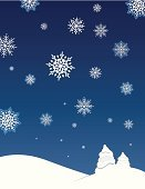 Christmas,Snowflake,Winter,Holiday,Landscape,Polar Climate,Rural Scene,Tree,Cold - Termperature,Falling,Blue,Sky,Night,Season,White,December,Vector,Beauty In Nature,Beauty,Hill,Illustrations And Vector Art,Beautiful,Ilustration,Individuality,Weather,Macro,Ice Crystal,January