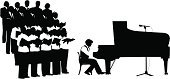 Choir,Silhouette,Singing,Piano,Men,Opera,Vector,Musician,Classical Music,Music,Classical Concert,Women,Black Color,People,Ilustration,Microphone,Promenade Concert,Female,symphonic,Music,Number of People,People,Arts And Entertainment,Illustrations And Vector Art,Unrecognizable Person