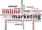 Online Marketing,Horizontal,No People,Marketing,Label,Single Word,Word Cloud,Illustration