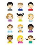 Child,Vertical,African Ethnicity,Caucasian Ethnicity,Boys,Girls,Females,People,Smiley Face,Vector,Human Body Part,Cute,Happiness,Human Face,Symbol,Anthropomorphic Smiley Face,Illustration,Avatar,Human Head,Collection,Small,Eyeglasses,Ponytail