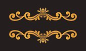 Horizontal,Frame,Copy Space,Elegance,Luxury,Retro Styled,Vignette,No People,Rococo Style,Victorian Style,Ornate,Divided,Illustration,Baroque Style,Classic,Bright,Swirl,Divider,Vector,Shiny,Bright,Gold Colored,Textured,Pattern,Floral Pattern