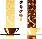 Coffee - Drink,Coffee Cup,Cup,Vector,Steam,Cappuccino,Latte,Drink,Food,Ilustration,Espresso,Mocha,Heat - Temperature,Design Element,Swirl,Caffeine,Brown,Food And Drink,Black Color
