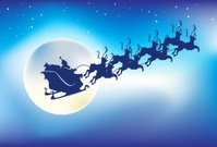 Santa Claus,Christmas,Sleigh,Reindeer,Rudolph The Red-nosed Reindeer,Humor,Moon,Holiday,Vector,Star - Space,Snow,Sky,Night,Flying,Magic,Winter,Toy,North,Pole,Gift,Cheerful,Riding,Bright,Bag,Happiness,Above,Small,Riding,List,Mischief,White,Celebration,Comfortable,Moving Toward,Joy,Season,yuletide,Aspirations,Receiving,Color Image,bring,Illustrations And Vector Art,Cold - Termperature