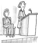 Adult,Vertical,Humor,Females,Women,Speech,Businesswoman,Cartoon,,Illustration,Lectern,Business Finance and Industry,Podium,Business,Public Speaker,Talking