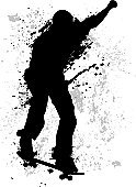 Skateboard,Skateboarding,Grunge,Dirty,Sport,Silhouette,Grunge,Men,Teenager,Extreme Sports,Adolescence,Back Lit,Vector,Action,Digitally Generated Image,Sports And Fitness,Sports Backgrounds,Outdoors,Extreme Sports,Exercising,Teenagers Only,Youth Culture,Enjoyment