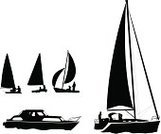 Yacht,Sailing,Nautical Vessel,Silhouette,Sail,Speedboat,People,Vector,Back Lit,White,Engine,Cruise Ship,Black Color,Sea,Cruise,Water,Ilustration,Journey,Travel,Float,Vacations,Travel Destinations,Transportation,Illustrations And Vector Art