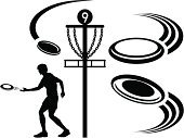 Plastic Disc,Disc Golf,Symbol,Throwing,Silhouette,Black And White,Sport,Vector,Ilustration,Men,Isolated On White,Goal