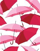 Umbrella,Parasol,Pattern,Pink Color,Seamless,Retro Revival,Backgrounds,Vector,1940-1980 Retro-Styled Imagery,Abstract,Textile,Repetition,Series,Elegance,Wallpaper Pattern,Illustrations And Vector Art,Vector Ornaments
