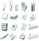 Electricity,Power Line,Electric Meter,Symbol,Circuit Breaker,Switch,Outlet,Computer Icon,Light Switch,Icon Set,Fuse,Lighting Equipment,Cable,Power Cable,rj45,Home Interior,House,Adhesive Tape,Light Bulb,Equipment,Vector,Industry,Wire,Gang Socket,Electronics Industry,Household Equipment,Computer Cable,Compact Fluorescent Lightbulb,Halogen Lightbulb,Construction Equipment,Europe,Electric Light,Filament,USA,Patch Cord Cable