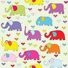 Square,Silhouette,Background,Love,Doodle,Animal Wildlife,Animal,Illustration,Image,Animal Markings,Group Of Animals,Seamless Pattern,Animal Trunk,Backgrounds,Elephant,Pattern