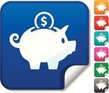 Piggy Bank,Savings,Symbol,Computer Icon,Coin Bank,Currency,Vector,Coin,Label,Dollar Sign,Dollar,Blue,Sign,Green Color,Finance,Ilustration,Digitally Generated Image,Pink Color,shinny,Gray,Red,Orange Color