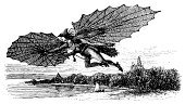 Invention,Flying,Checking the Time,Inventor,Intellectual Property,Machinery,Engraving,Engraved Image,Innovation,Victorian Style,Men,Retro Revival,Scientific Experiment,Equipment,Water,Old-fashioned,Antique,Ilustration,Image,Bizarre Vehicle,One Person,Old,Image Created 19th Century,Clip Art,Photograph,Classic,Front View,Horizontal,Cut Out,Design,Technology,Outdoors,Equipment,Line Art,Flying Apparatus,White Background,Nature,Design Element,Medicine And Science,Studio Shot,Close-up,High Contrast,Illustrations And Vector Art,Black And White,Isolated On White,Paintings