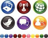 Communication,Social Issues,Symbol,Computer Icon,Icon Set,Internet,Technology,Globe - Man Made Object,Global Communications,Red,Design,Computer,Green Color,Bird,Laptop,Orange Color,Digitally Generated Image,Discussion,Sphere,Yellow,Black Color,Vector,Modern,Talking,Group Of People,Blue,Sparse,Gossip,Planet - Space,Antenna - Aerial,No People,Ilustration,Empty