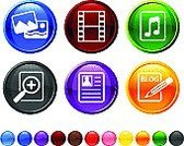 Photograph,Symbol,Computer Icon,The Media,Information Medium,Blog,Icon Set,Profile View,Digitally Generated Image,Vector,Camera Film,Black Color,Design,Blue,Orange Color,Magnifying Glass,Red,Photography Themes,Musical Note,Modern,Green Color,Eraser,No People,Sparse,Ilustration,Empty,Yellow,digital media,Pencil
