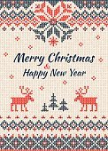Vertical,No People,Christmas,Illustration,Winter,Embroidery,Backgrounds,Wool