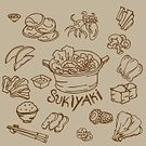 Shabu,Square,Sukiyaki,Computer Graphics,Beef,Stew,Beef Stew,Japanese Culture,Vegetable,Illustration,Ink,Cooking,Food,Computer Graphic,Cooking Pan,Vector,Dinner,Meat