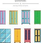 Vertical,Cut Out,No People,Bedroom,Flat,Illustration,Indoors,Symbol,Flat,Bookshelf,Design,Group Of Objects,Pattern