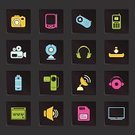 Text Messaging,The Media,Information Medium,Symbol,Battery,SIM Card,Photography Themes,Computer Icon,Photography,Television Set,Joystick,Camera - Photographic Equipment,Music,Equipment,Downloading,Sound,Interface Icons,Vector,Mobile Phone,Green Color,Computer Graphic,Liquid-Crystal Display,Pink Color,Communication,Multi Colored,Palmtop,Yellow,Personal Data Assistant,Electronic Organizer,Internet,Satellite Dish,Design Element,Group of Objects,Design,Black Color,Headphones,Control,Blue,Colored Background,No People