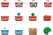 Basket,Symbol,Computer Icon,Shopping Basket,Shopping,Shopping Cart,Icon Set,Red,Interface Icons,Box - Container,Blue,Retail,Delivering,Sign,Open,Shopping Bag,Package,Collection,Closed,Plus Sign,Minus Sign,Set,Vector Icons,Illustrations And Vector Art,Arrow Symbol,Label