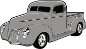 Hot Rod,Pick-up Truck,Truck,Drag Racing,Car,Vector,Sports Car,White,Black Color,Land Vehicle,Roadster,Motorsport,Transportation,Mode of Transport,Illustrations And Vector Art,Transportation,Shiny,Gray,Riding,Fun,Wheel,Tire,No People