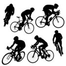 Cycling,Bicycle,Silhouette,Triathlon,Competition,Mountain Bike,Vector,Wheel,Exercising,Female,Relaxation Exercise,Work Helmet,Competitive Sport,Black And White,Sports Training,Male,Isolated On White,Sports Helmet,Vector Cartoons,People,Illustrations And Vector Art,Adult,Isolated Objects