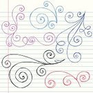 Doodle,Scribble,Notebook,Fun,Sketch,Swirl,Drawing - Art Product,Paper,Lined Paper,Pencil Drawing,Hand-drawn,Scroll Shape,Vector Backgrounds,Vector Ornaments,Illustrations And Vector Art,Abstract,Vector,Ilustration,Cute