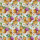 Square,No People,Summer,Illustration,Nature,Flower Head,Seamless Pattern,Decoration,Botany,Backgrounds,Bouquet,Multi Colored,Pattern