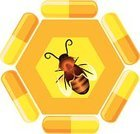 Bee,Honey,Medicine,Capsule,Pill,Honeycomb,Vector,Beeswax,Alternative Medicine,Alternative Medicine,Medical,Vector Icons,Medicine And Science,Illustrations And Vector Art,Preparation,Insect,Beauty And Health