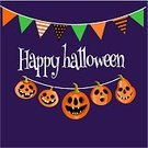 Vertical,Spooky,Background,Banner,Holiday - Event,Cheerful,Illustration,Advertisement,Banner - Sign,Lantern,Backgrounds,Halloween,Flag,Pumpkin,Vector,Orange Color,Laughing