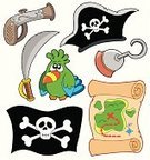 Pirate,Hat,Map,Cartoon,Vector,buccaneer,Parrot,Artificial Hand,Human Skull,Flag,Collection,Rolled Up,Group of Objects,Design Element,Scroll,Set,Sword,Human Bone,Metal,Ilustration,Cap,Saber,Paper,Gun,Handgun,Sea,Equipment,Drawing - Art Product,Bird,Banner,Dagger,Objects with Clipping Paths,Isolated Objects,Isolated,Direction,Warning Sign,Danger,Warning Symbol,Art Product,Illustrations And Vector Art,Multi Colored