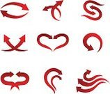 Curve,Direction,Symbol,Sign,Vector,Design,Red,Heart Shape,Computer Graphic,Design Element,Pattern,Outline,Set,Label,Ilustration,Isolated,Isolated On White,No People