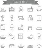 checkroom,Vertical,No People,Sleeping,Bedroom,Dresser,Furniture,Crib,Office,Collection,Closet,Illustration,Straight,Icon Set,Symbol,Table,Lounge,Cloakroom,Thin,Domestic Room,Living Room,Domestic Bathroom,Sofa,Bed,Drawer,Desk,Vector