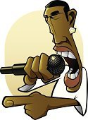 Rap,Hip Hop,Microphone,Talking,Anger,People,Arts And Entertainment,Music,Music,Furious,Illustrations And Vector Art