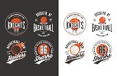 Horizontal,No People,Banner,Ball,Illustration,Symbol,Banner - Sign,Sport,Basketball - Ball,Circle,Insignia,Basketball - Sport,Vector,Badge,Dark