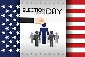 Horizontal,Unity,Responsibility,USA,No People,Democratic Party - USA,Government,Politics and Government,Illustration,Symbol,Election,Voting Ballot,Democracy,Voting,US Republican Party,Blue,Red