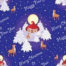 216177,Square,Fairy Tale,Humor,Connection,Background,Deer,Animal,Christmas,Cheerful,Illustration,Full Moon,House,Animal Markings,Pinaceae,Fir Tree,Happiness,Fawn,Winter,Night,Seamless Pattern,New Year,Forest,Small,Backgrounds,Snow,Tree,Greeting,Pattern