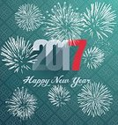 Happy-new-year,Vertical,Celebration,No People,2017,Christmas,Illustration,Firework Display,Greeting