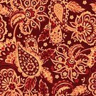 Square,Repetition,No People,Ornate,Illustration,Single Flower,Seamless Pattern,Decoration,Backgrounds,Vector,Paisley Pattern,Flourish,Red,Pattern,Floral Pattern