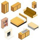 Isometric,Furniture,Bed,Symbol,Sofa,Mattress,Table,Pillow,Wood - Material,Fireplace,Vector,Cabinet,Decor,Shelf,Ilustration,Sink,Drawer,Bedding,Furniture Part,Book,Night Table,Bookshelf,Sideboard,No People,Seat,Headboard,Blanket,Double Bed,Two Seater Sofa,Dresser,Objects/Equipment,Concepts And Ideas,Isolated On White,Illustrations And Vector Art