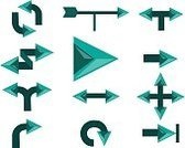 Horizontal,No People,Symbol,Arrow Symbol,Circle,Arrow - Bow and Arrow,Illustration,Group Of Objects,Vector,PIN Entry
