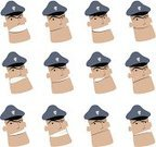 Police Force,Human Face,Security Staff,Security,Symbol,Cartoon,Security System,Safety,Men,Sadness,Confusion,Occupation,Sign,Emoticon,Computer Icon,Satisfaction,Icon Set,Talking,Crime,Depression - Sadness,Network Security,Safe,Vitality,Drawing - Art Product,Ilustration,Characters,Don't,Cheerful,Happiness,Protection,Furious,Facial Expression,Labor Day,Shouting,Manga Style,Displeased,Anger,Justice,Humor,Police Hat,Justice - Concept,Positive Emotion,Communication,Answering,Support,Advice,Job - Religious Figure,Looking,Trust,Stop,Screaming,Stop Gesture,Protective Workwear,Avatar,Global Communications,Creativity,Scolding,Aspirations,Tired,Smiling,Professional Occupation,Obedience,Ecstatic,Expertise,Excitement,Cheering,Solution,Holidays And Celebrations,Danger,Responsibility,alerting,Motivation,Economic Depression,Warning Symbol,Energy,Warning Sign,Inspiration,Ideas,Concepts,Carefree,Concepts And Ideas,Great Depression,Assistance,Imagination,Discussion,Firewall,Industry