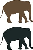 268399,Vertical,Silhouette,Africa,African Elephant,Animal,Collection,Mammal,Animals In The Wild,Safari Animals,Illustration,Nature,Zoo,Symbol,Tusk,Outline,Aubusson,Animal Trunk,Elephant,Vector,Design Element