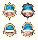 Gold Colored,Circle,Medal,USA,Sign,Insignia,Digitally Generated Image,Badge,Backgrounds,Design Element,Award,Medallion,Collection,Ilustration,Pattern,Label,Illustrations And Vector Art,Black Color,Set,Vector Icons,Blue,Red,Pride,Star Shape,Computer Icon