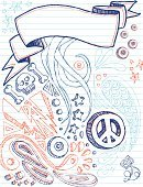 Notebook,Doodle,Sketch Pad,Lined Paper,Lightning,Peace Symbol,Sketch,Audio Cassette,Star Shape,Pencil Drawing,Lifestyle,Teens,Vector Cartoons,Illustrations And Vector Art,Ink Drawing,Pen And Ink,Three-dimensional Shape,Skull And Bones